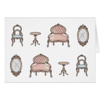 Antique Furniture BLANK Card