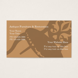 Home furnishings business cards business card printing zazzle uk antique furniture business cards colourmoves