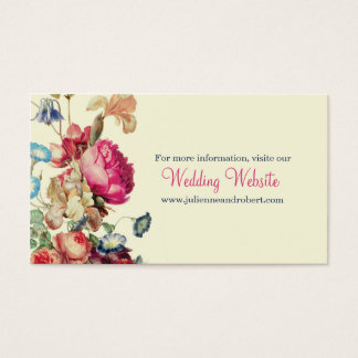 Antique Garden | Vintage Wedding Website Card