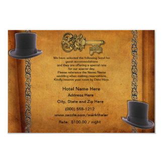 Antique Gay Wedding Custom Accommodations Cards 9 Cm X 13 Cm Invitation Card