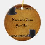Antique Gay Wedding Custom Ornament Favours