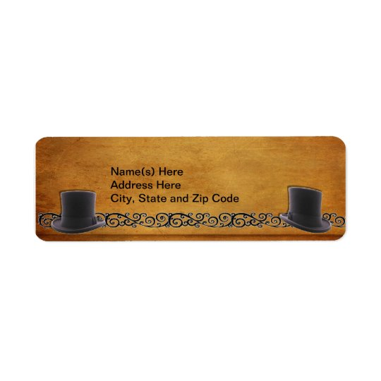Antique Gay Wedding Custom Return Address Labels
