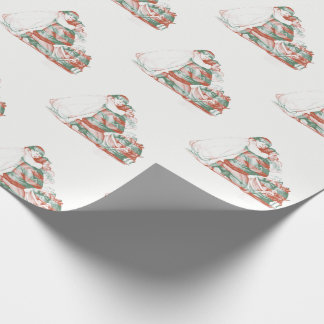 Antique Girl Covering Santa Clause eyes Wrapping Paper