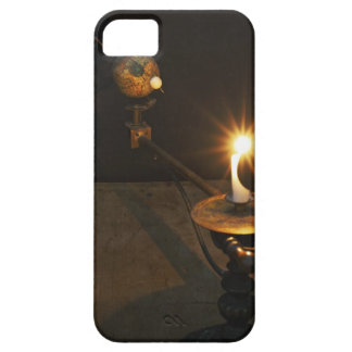 Antique globe and candle solar system model case for the iPhone 5