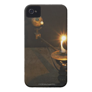 Antique globe and candle solar system model iPhone 4 covers