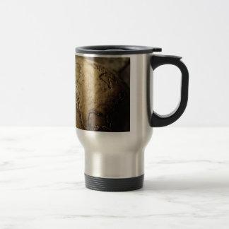 Antique globe stainless steel travel mug