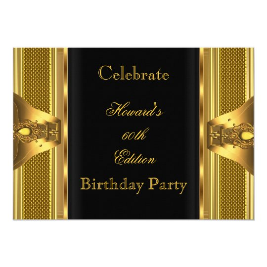 Antique Gold Black Book 60th Birthday Party 2