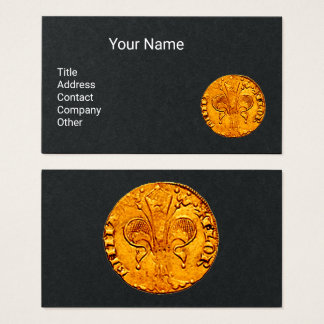 ANTIQUE GOLD FLORENTINE FORINT Black Paper