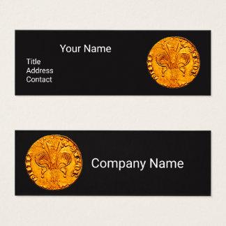 ANTIQUE GOLD FLORENTINE FORINT Black Paper Mini Business Card