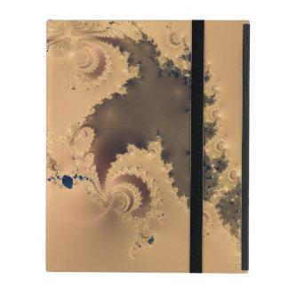 Antique Gold Fractal iPad Cover