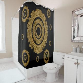 Antique gold mirror shower curtain