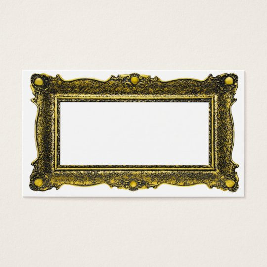 Antique Gold Picture Frame Business Card