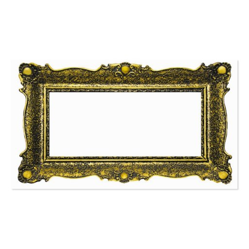 Antique Gold Picture Frame Business Cards