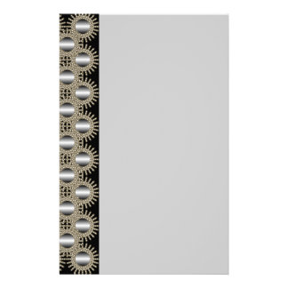 Antique Gold & Silver Lace Stationery