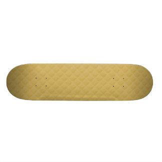Antique Gold Stitched Quilt Pattern Skateboard Decks