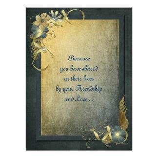 Antique Gold Vow Renewal Custom Invitations