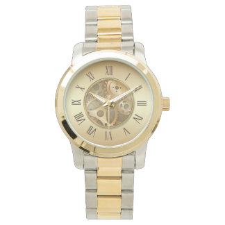 Antique Golden Roman Numerals Watch
