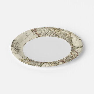 Antique Greek Map 7 Inch Paper Plate