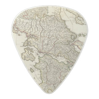 Antique Greek Map Acetal Guitar Pick