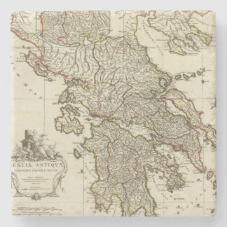 Antique Greek Map Stone Coaster