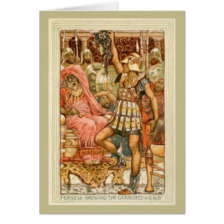 Antique Greek Myths Perseus by Walter Crane Greeting Card