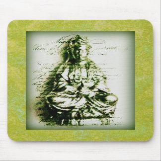 Antique Green Kwan Yin mousepad