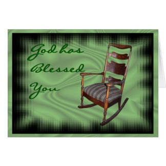 Antique H Rocker-customize any occasion Card