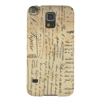 Antique Handwriting Phone Case Case For Galaxy S5