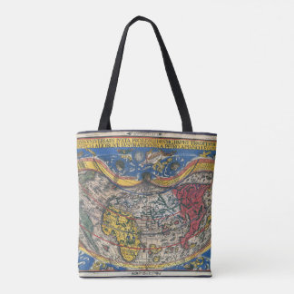 Antique Heart Shaped World Map by Peter Apian 1520 Tote Bag