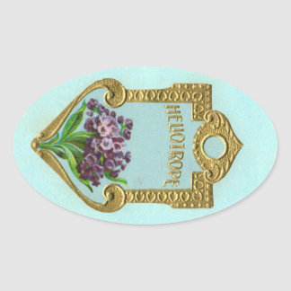 Antique Heliotrope French Perfume Sticker