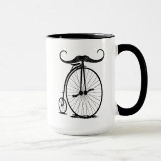 Antique High Wheel Bike Handlebar Mustache Mug