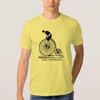 Antique high wheeler bicycle men's t-shirt