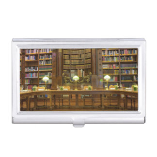 Antique Historical Library Business Card Holder