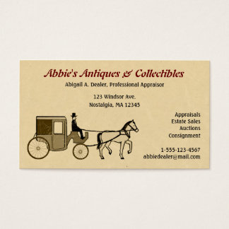 Antique Horse & Carriage Business Card