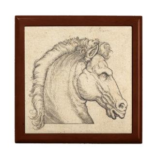 Antique Horse Head German Engraving Gift Box