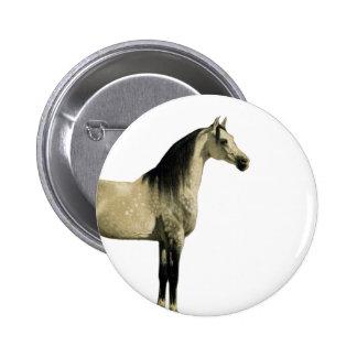Antique Horses - Arabian 6 Cm Round Badge