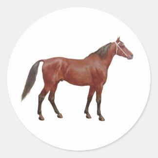Antique Horses - Thoroughbred Classic Round Sticker