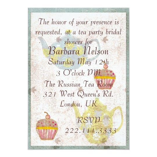 Antique Inspired Tea Party Invitation