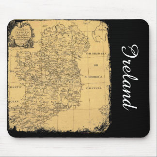 Antique Ireland Map Mousepad