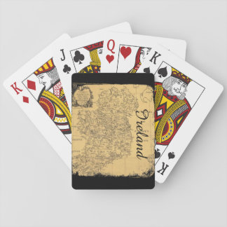 Antique Ireland Map Playing Cards