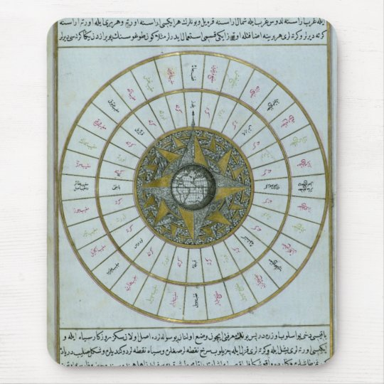 Antique Islamic Calendar Mouse Mat