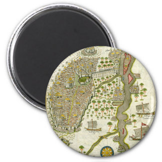 Antique Islamic Map Magnets