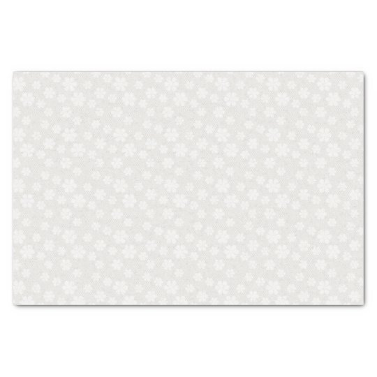 Antique Ivory and White Floral Tissue Paper