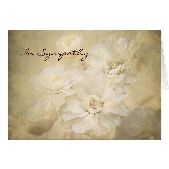 Antique Ivory Blossoms Condolence Sympathy Card