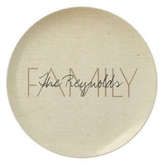 Antique Ivory Paper Add Name Dinner Plates