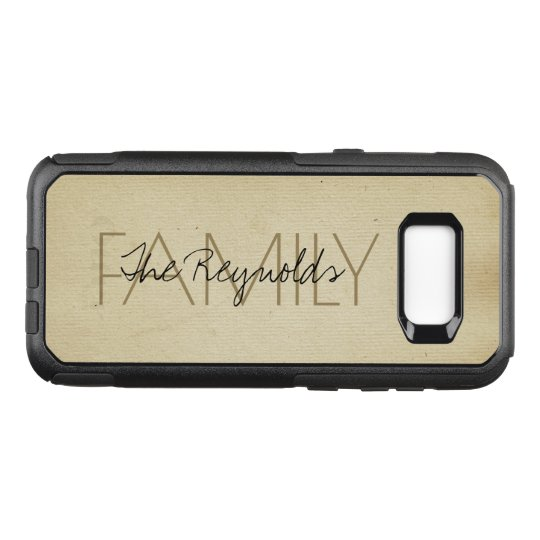 Antique Ivory Paper Texture Add Name OtterBox Commuter