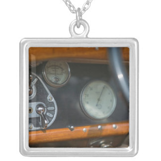 antique jaguar 2 silver plated necklace