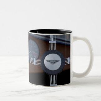 antique jaguar 3 Two-Tone coffee mug