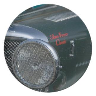 antique jaguar dinner plates