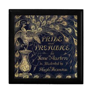 Antique Jane Austen Pride and Prejudice Peacock Large Square Gift Box